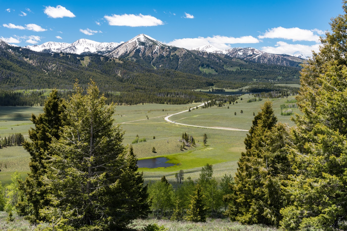 Overlook on the Sawtooth Scenic Byway, Idaho